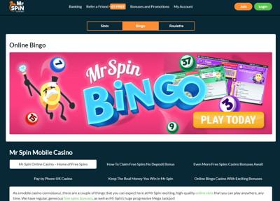 mr spin bingo