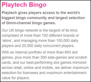 playtech bingo