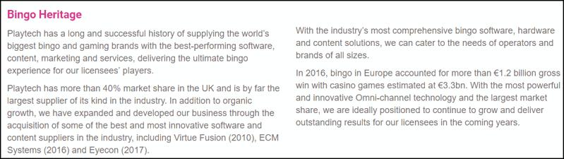 playtech bingo heritage