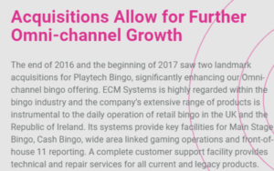 playtech growth