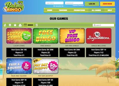 Balmy Bingo Screenshot