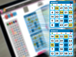 75-ball bingo cards screenshot