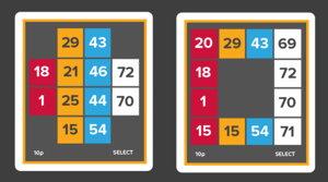 80-ball bingo card screenshot