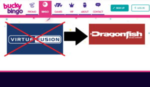 bucky bingo move from virtue fusion to dragonfish