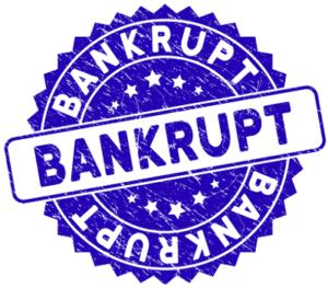 bankrupt