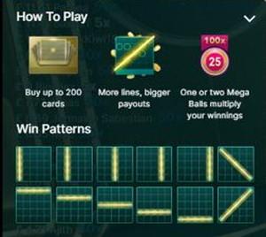 Mega Ball win patterns