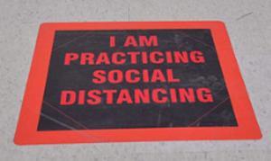social distancing sign screenshot