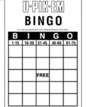 U Pik Em bingo card screenshot