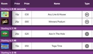 mecca bingo schedule screenshot