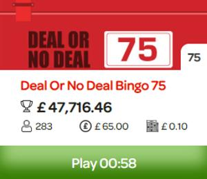 deal or no deal bingo jackpot screenshot