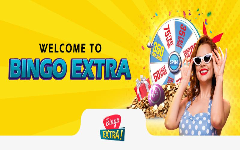 bingo extra welcome page screenshot