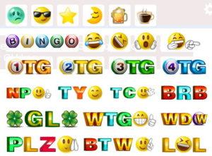 bingo chat emojis