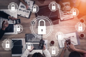 cyber security and padlocks