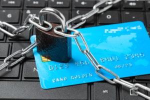 padlock and debit card
