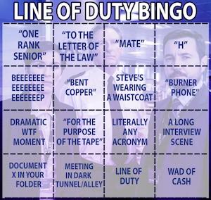 line of duty bingo card screenshot