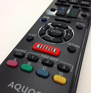 Netflix tv remote screenshot